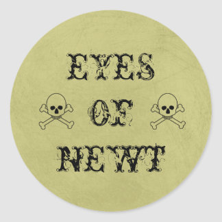 Eye Of Newt Label Halloween Candy Bar Signs Classic Round Sticker