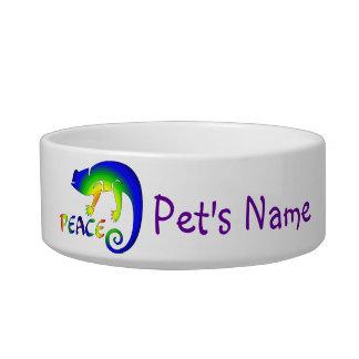 Eye Of Newt Peace Cat Food Bowls