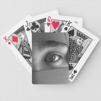 Eye of NIN Black and White Playing Cards