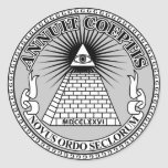 Eye of Providence 丸形シールステッカー