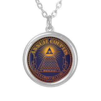 Eye of Providence 3 Silver Plated Necklace