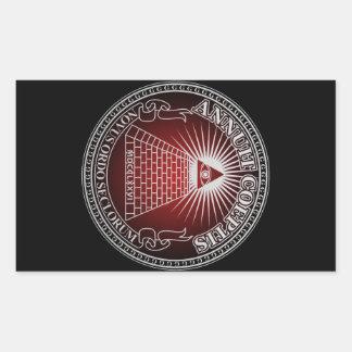Eye of Providence 4 Rectangular Sticker