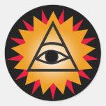 Eye of Providence Classic Round Sticker