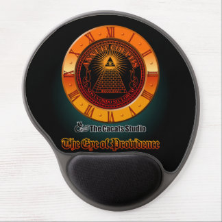 Eye of Providence clock Gel Mouse Pad