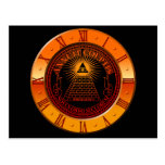Eye of Providence clock Postcard