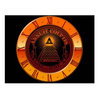 Eye of Providence clock Postcard