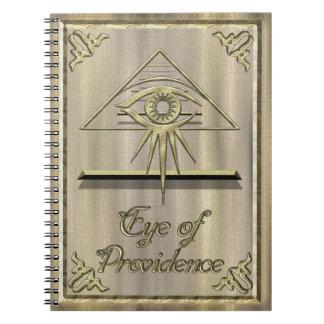 Eye of Providence Gold Notebooks