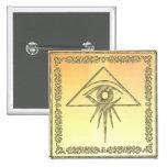 Eye of Providence Goldtone Buttons