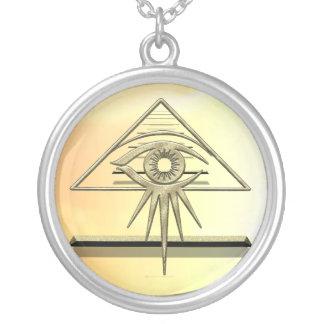 Eye of Providence Goldtone Necklace