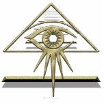 Eye of Providence Goldtone Photo Sculpture