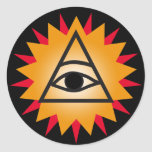 Eye of Providence Round Sticker