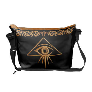 Eye of Providence Stone Courier Bag