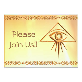 Eye of Providence Stone 5x7 Paper Invitation Card