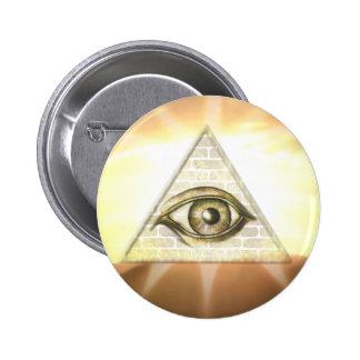 Eye of Providence Sunburst Button