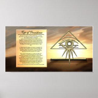 Eye of Providence Sunburst Information Poster