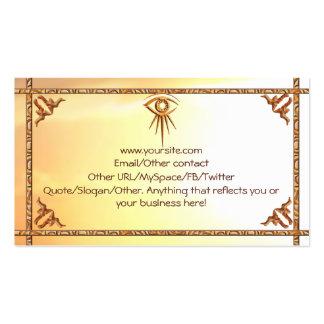 Eye of Providence Sunburst Introduction Card Business Card