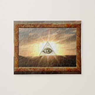 Eye of Providence Sunburst Jigsaw Puzzle