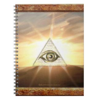 Eye of Providence Sunburst Spiral Note Books