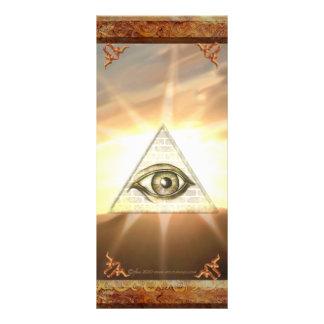 Eye of Providence Sunburst Rackcard Rack Card