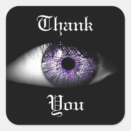 Eye of Purple Cute Cool Eyeball Design Square Sticker
