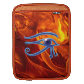 Eye of Ra & Flames Ancient Egyptian Wadjet Symbol Sleeves For iPads