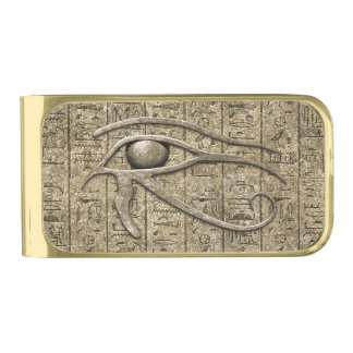Eye Of Ra Gold Finish Money Clip