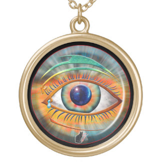 Eye of Ra Gold Plated Necklace