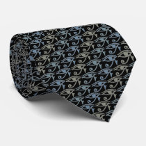 Eye Of Ra Horus Tie Armani Gray Black Tie