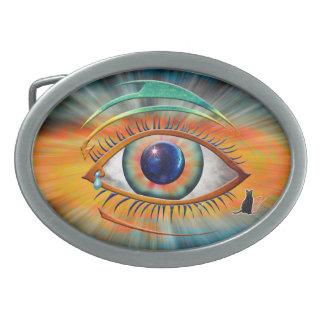 Eye of Ra Oval Belt Buckle