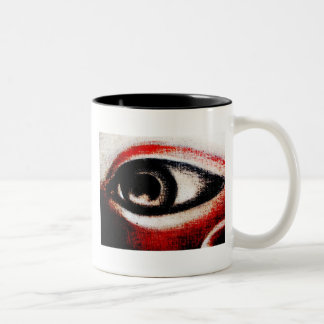Eye of Ra Red,Black and White Coffee Cup