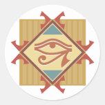 Eye of Ra Round Stickers