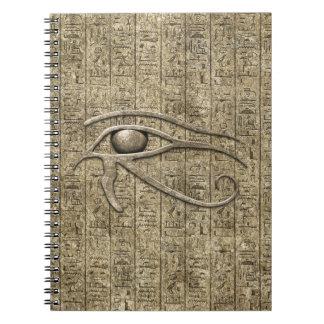 Eye Of Ra Spiral Notebook