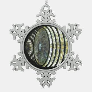 Eye of Shinjuku 新宿の目 Snowflake Pewter Christmas Ornament