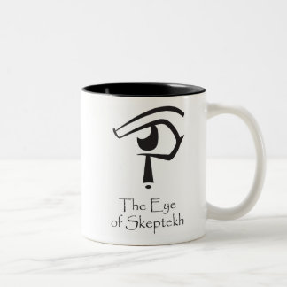 Eye of Skeptekh with Godless Cartouche Two-Tone Coffee Mug