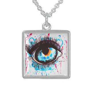 Eye Of The Beholder Sterling Silver Necklace