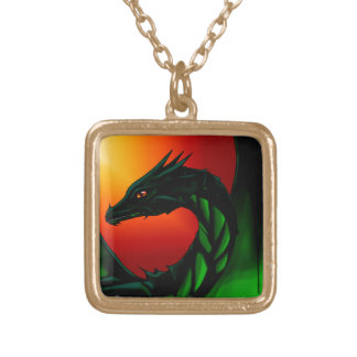 Eye of the Dragon Gold Plated Necklace