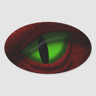 Eye of the Dragon Oval Sticker