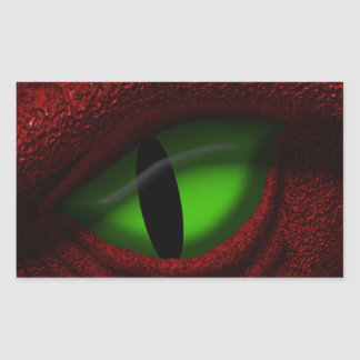 Eye of the Dragon Rectangular Sticker