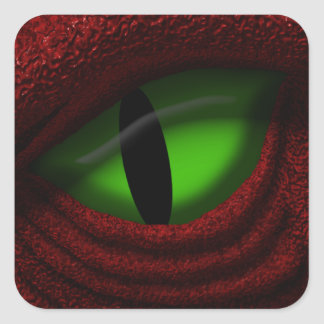 Eye of the Dragon Square Sticker