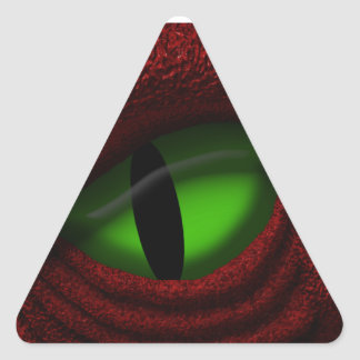 Eye of the Dragon Triangle Sticker