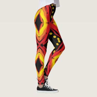 Eye of The Fire God art by EelKat Wendy C Allen Leggings