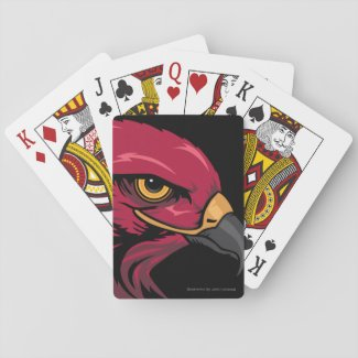 Eye of the Hawk Illustration Playing Cards