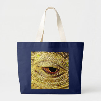 """Eye Of The Iguana"" Unique Photo Jumbo Tote Bags"