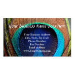Eye of the Peacock Feather Close-Up Double-Sided Standard Business Cards (Pack Of 100)