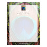 Eye of the Peacock Feather Close-Up Personalized Letterhead
