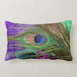 Eye Of The Peacock Lumbar Pillow
