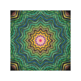 Eye of the Star Kaleidoscope Gallery Wrap Canvas