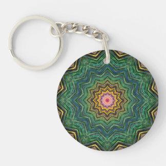 Eye of the Star Kaleidoscope Double-Sided Round Acrylic Keychain