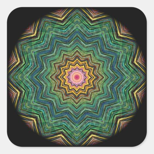 Eye of the Star Kaleidoscope Square Sticker