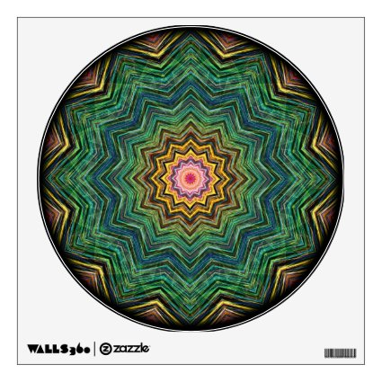 Eye of the Star Kaleidoscope Wall Decals